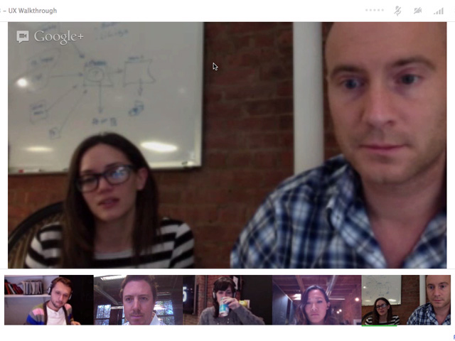 The Fi redesigned website team on G+ Hangout