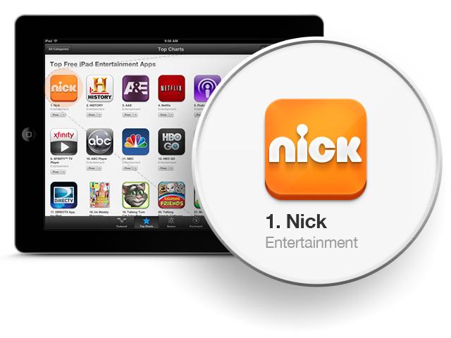 Nick app #1 Free iPad Entertainment App