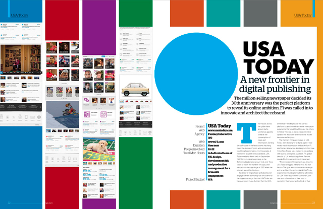 USA Today's redesigned website