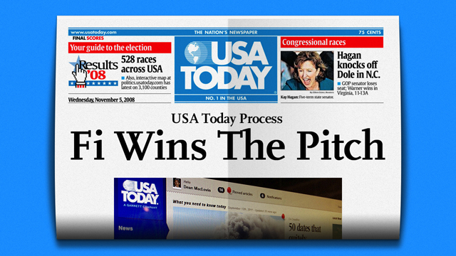 Fi wins the USAToday.com redesign work